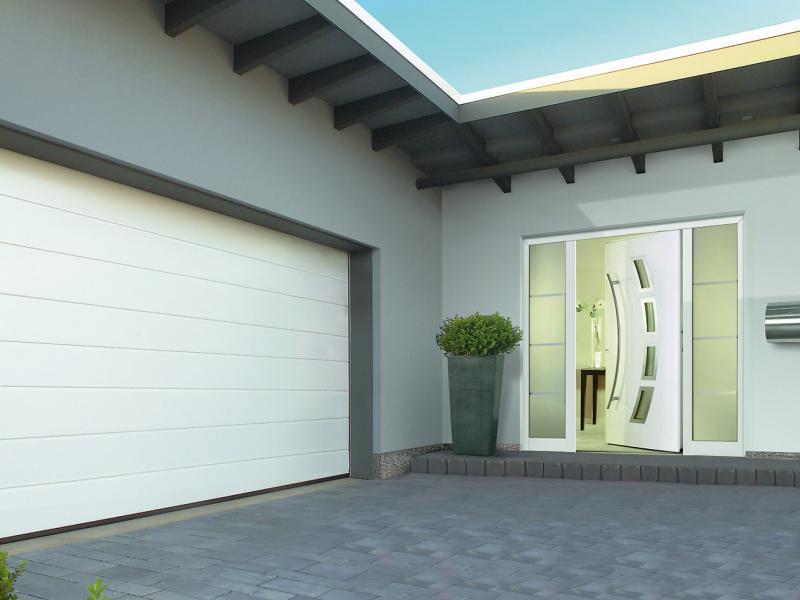 Portes de garage dgm menuiseries aurillac et st flour - Porte de garage a refoulement plafond ...